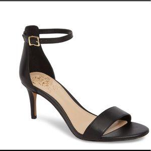 Vince Camuto Sebatini Sandal Black Leather sz 9